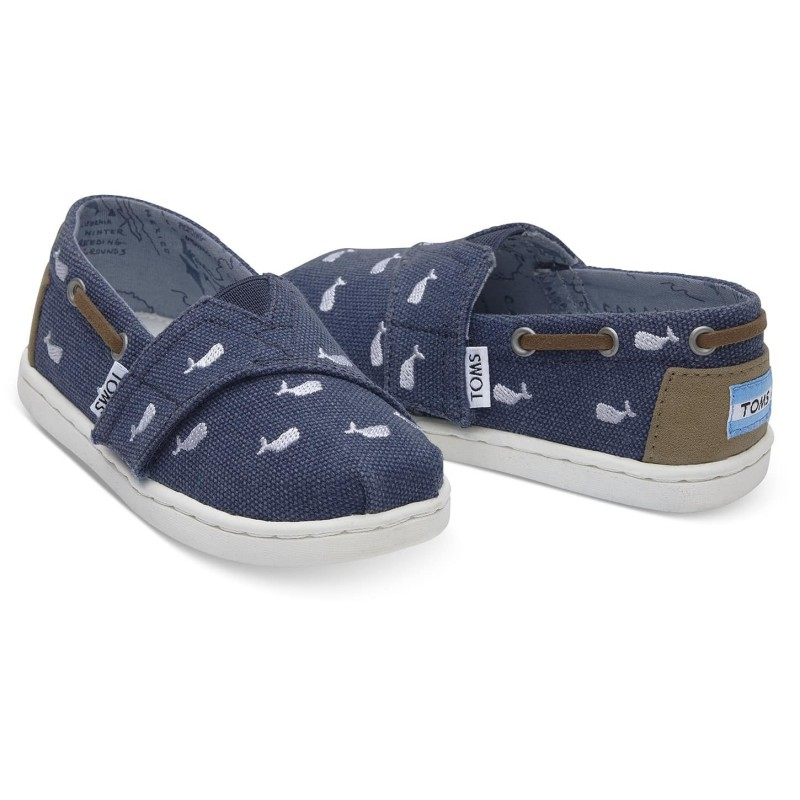 Toms Bimini Navy Whale Embroidery 10011564