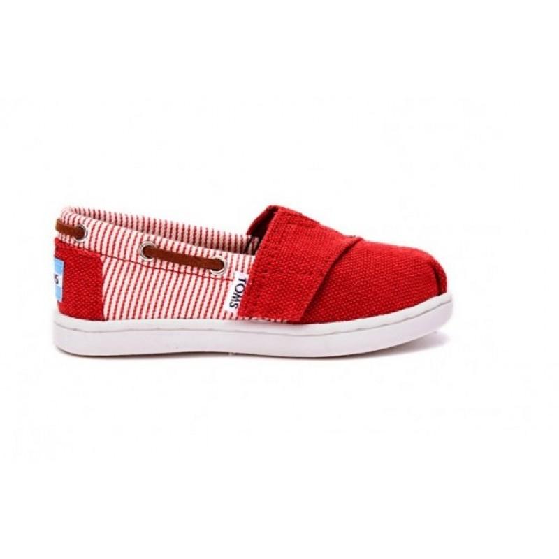 Toms Bimini Red Burlap Stripe 10007543