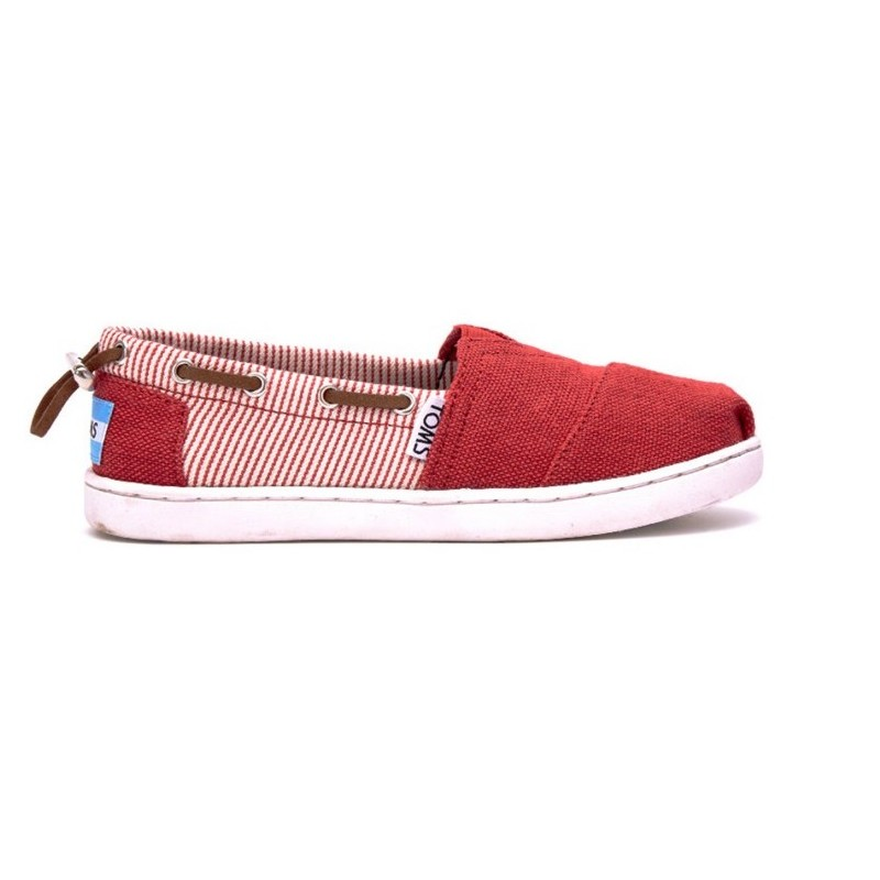 Toms Bimini Red Burlap Stripe 10007544